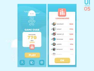 UI challange 05 - game leaderboard