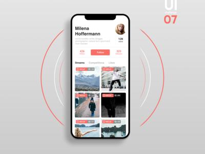 UI challenge 07 - social profile