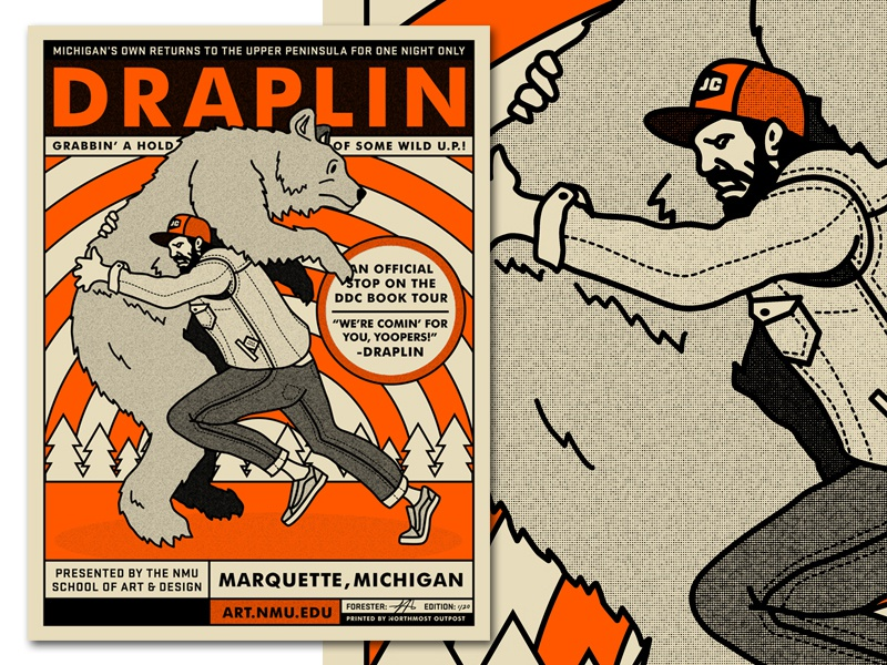aaron draplin talks to overtime tall tales from a large. Black Bedroom Furniture Sets. Home Design Ideas