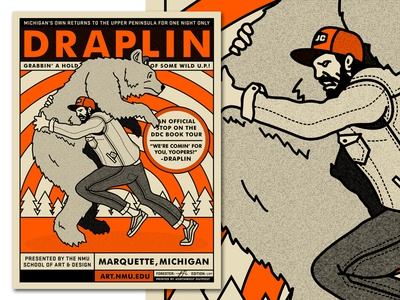draplin poster by mike forester dribbble. Black Bedroom Furniture Sets. Home Design Ideas