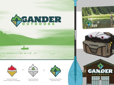 Gander Outdoors Concept 1 design outdoors gander vector logo