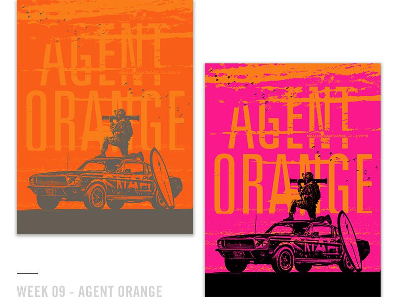 52 Random Gig Posters - Week 9 character vintage screen print agent orange punk music concert poster gig poster