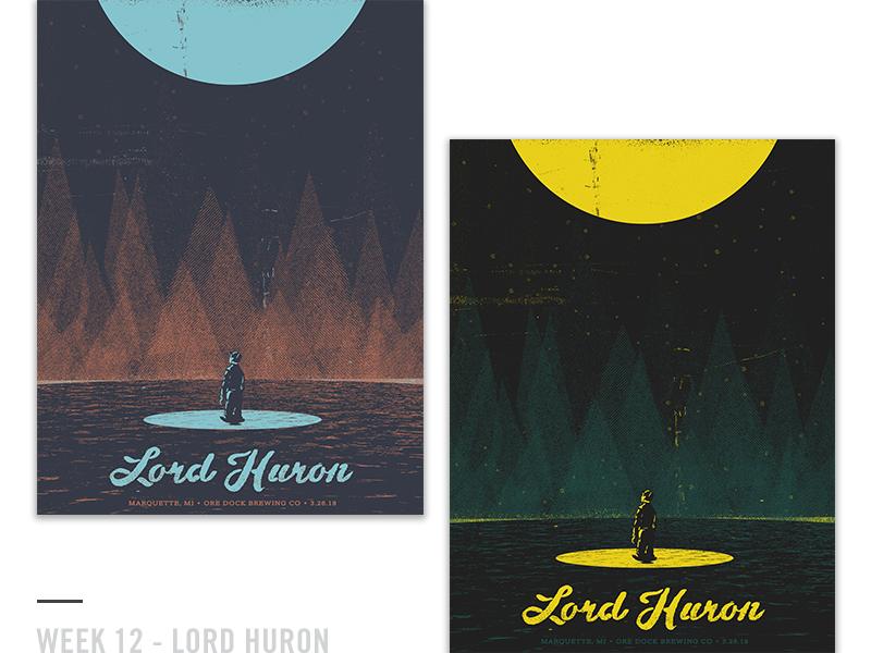 52 Random Gig Posters - Week 12 design screen print lord huron music concert poster gig poster