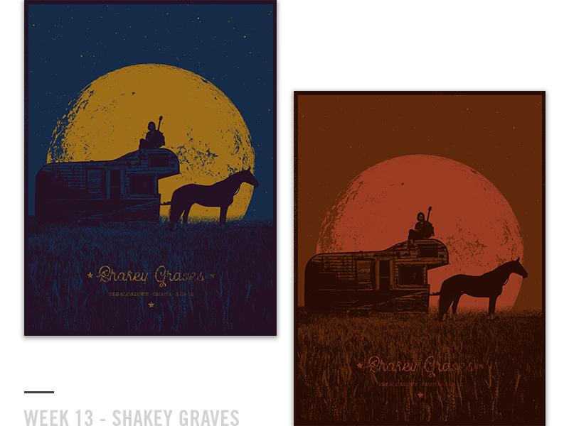 52 Random Gig Posters - Week 13 design screen print guitar shakey graves music concert poster gig poster