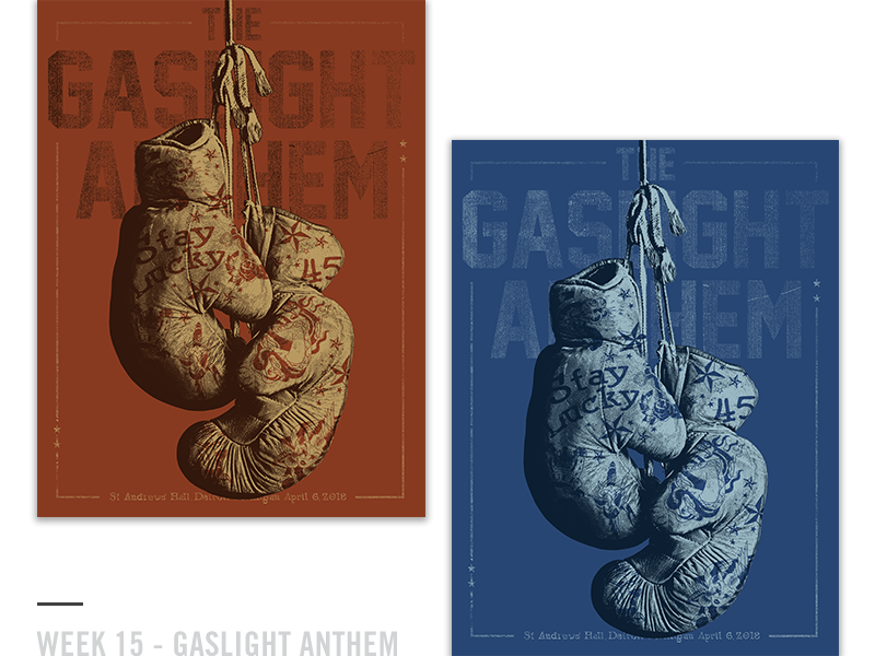 52 Random Gig Posters - Week 15 design screen print poster boxing gaslight anthem music concert gig poster