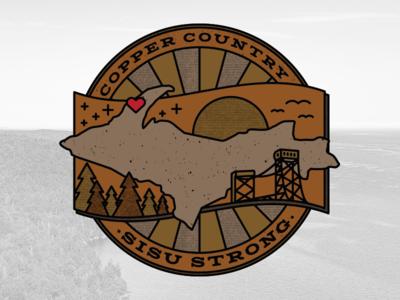 Copper Country Relief Effort monoweight benefit fundraiser midwest design logo michigan