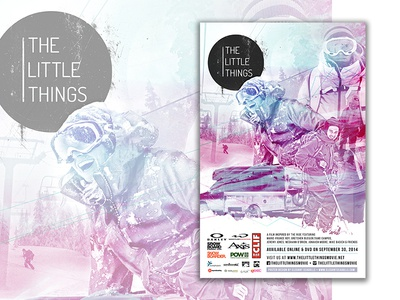 Little Things Movie photoshop actions poster design snowboarding