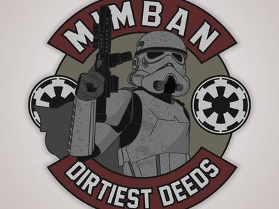 Mimban Stormtrooper military badge vector illustration stormtrooper star wars