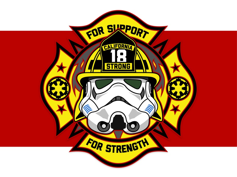 Star Wars Firefighter Fundraiser Patch badge design vector patch fundraiser stormtrooper star wars