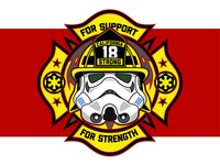 Star Wars Firefighter Fundraiser Patch
