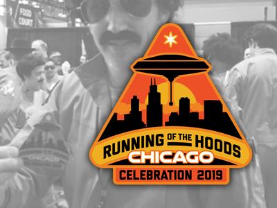 Running Of The Hoods Bage logo vector illustration badge design badge star wars