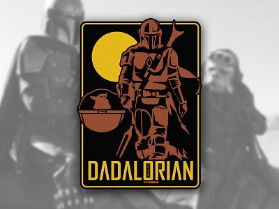 The Dadalorian illustration empire jedi mandalorian patch design
