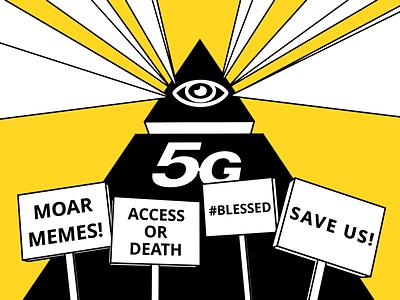 5G Conspiracy internet 3d illustration