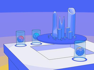 Future City Lab futuristic city 3d illustration