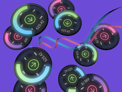 Network Speed Test internet networks 3d illustration