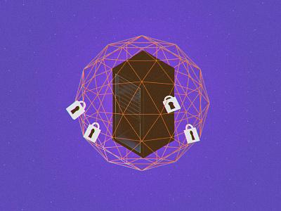 Internet on Lockdown server network illustration technology internet access 3d