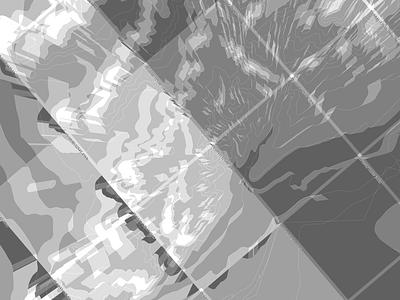 Elevation Data Visualization generative topological elevation mapping
