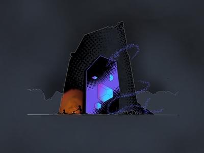 Dimensional Portal Illustration