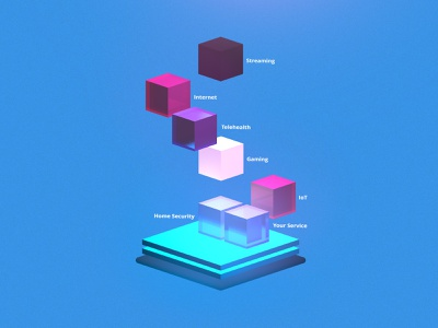 Network Composition Diagram networking diagram 3d cinema 4d after effects illustration