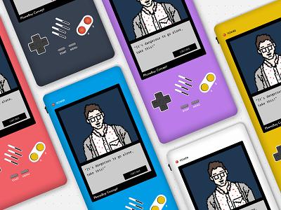 PhoneBoy New Pixel Art figma gaming handheld concept design retro gameboy pixel art pixels