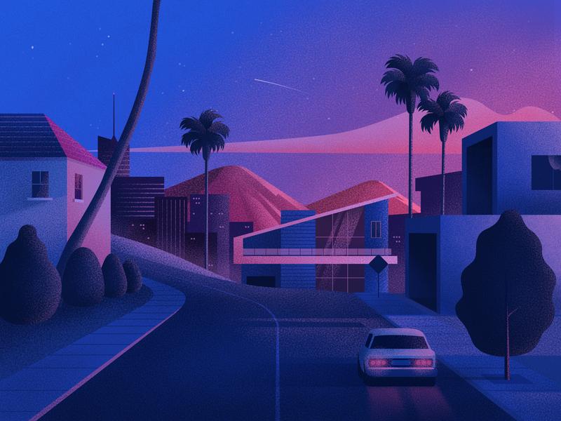 Drive color clean art purple texture design illustration