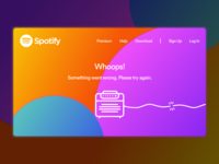 Daily UI #008: 404 Page (Spotify)