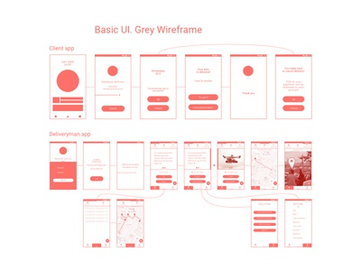 Optimum Delivery Grey wireframe