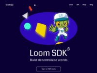 Landing hero for SDK documentation site