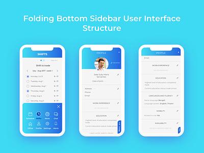 FBS example ux ui mobile fbs folding bottom sidebar