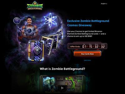 Zombie Battleground Cosmos Landing blockchain game blockchain lander ui