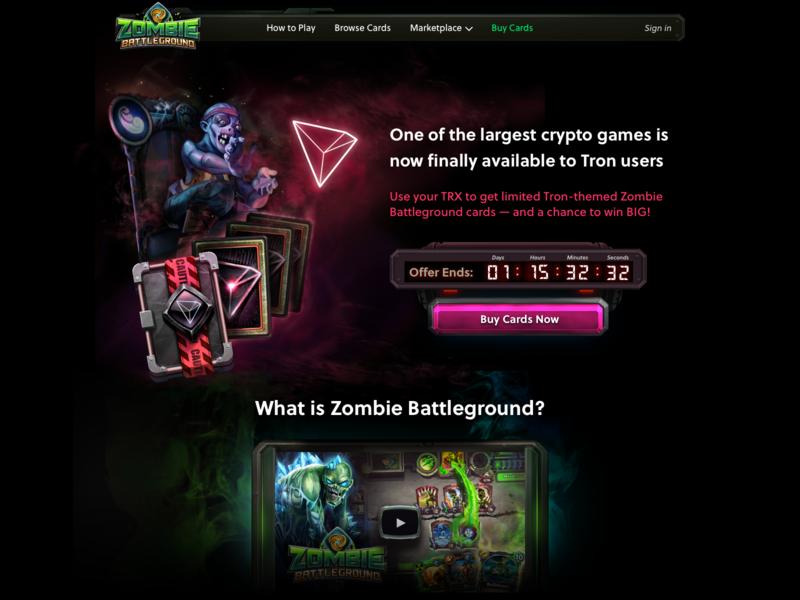 Zombie Battleground Tron Landing