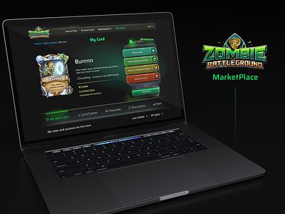 Zombie Battleground Blockchain Game Market Place blockchain marketplace ux  ui ui