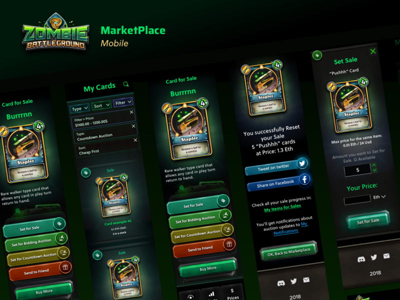 Zombie Battleground Marketplace Mobile