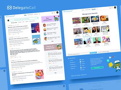 Delegatecall UI ui ux social network blockchain