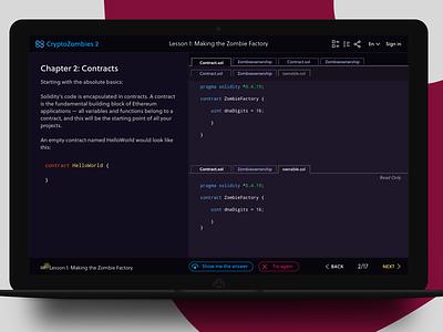 Crypto Zombies Coding UI bockchain ui coding