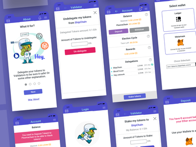 PlasmaChiain dapp UI Mobile mobile ui blockchain