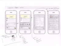 Mobile interaction sketch