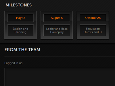 Milestones and Team Comments website
