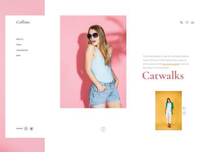 Girly Webshop :) golden ratio pastel colors girls montserrat cormorant typography web designer web desgin web ux  ui ui homepage design colors