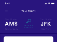 Flight ios app   boarding pass