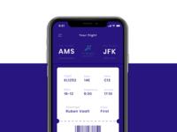 Flight Ticket iOS App - Boarding pass