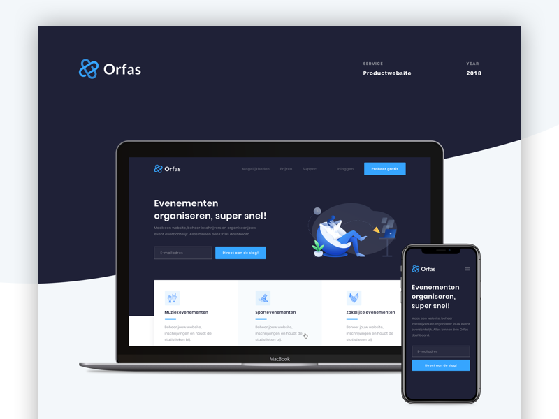 ✍️ Orfas - Design Case Study sketch design organisation events case case study web design user interface user experience