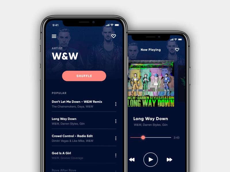 🎶 Music Player App (iOS) festival uxdesign uidesign music music app iphone ios app apple typography app ios web design photoshop sketch ui ux design