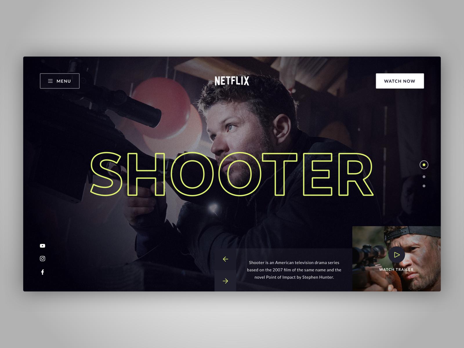 📺 Netflix Concept Page hero header landing page video concept design netflix logo uxdesign uidesign typography concept website web design clean ux ui sketch design