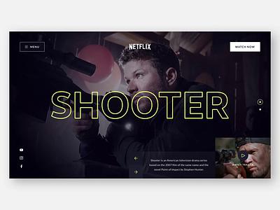 📺 Netflix Concept Page Animation design sketch ui ux clean web design website concept typography uidesign uxdesign logo netflix concept design video landing page hero header