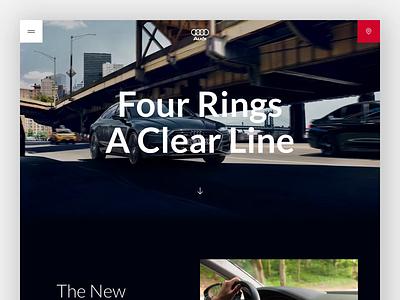 🚘 Audi (A7) Concept car cars audi branding vector concept design logo uxdesign uidesign typography concept website web design clean photoshop ui ux sketch design