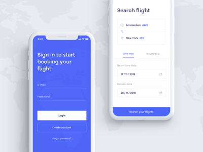 🛫 Flight Booking App - Sign in & Search Flight