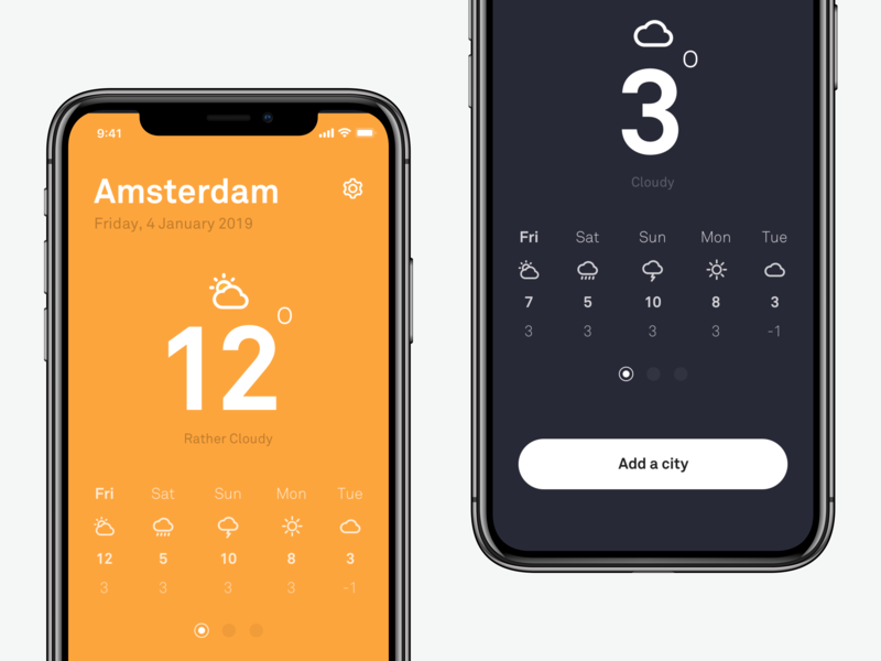 ☀️ Weather App weather app weather iphone creative creative agency concept design ios ios app app website uxdesign uidesign concept web design clean photoshop ux ui sketch design