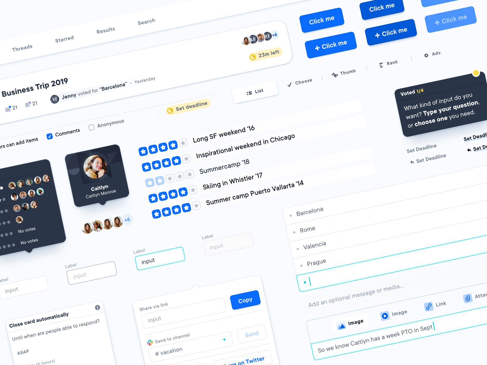 Dribbble components library