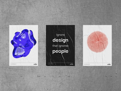Posters – Utilo poster design illustration design branding typography 3d poster